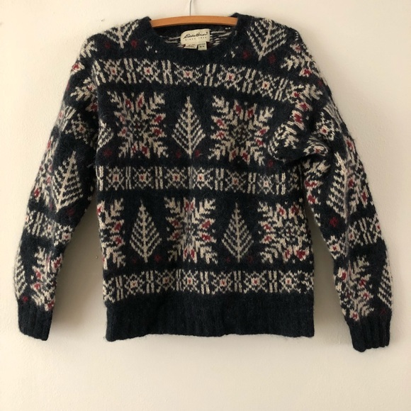 eddie bauer vintage christmas sweater